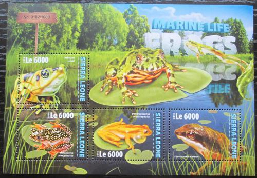 Poštovní známky Sierra Leone 2016 Žáby Mi# 7033-36 Kat 11€
