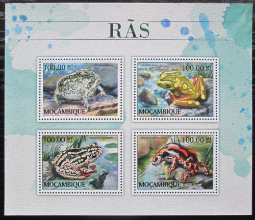 Poštovní známky Mosambik 2016 Žáby Mi# 8889-92 Kat 22€