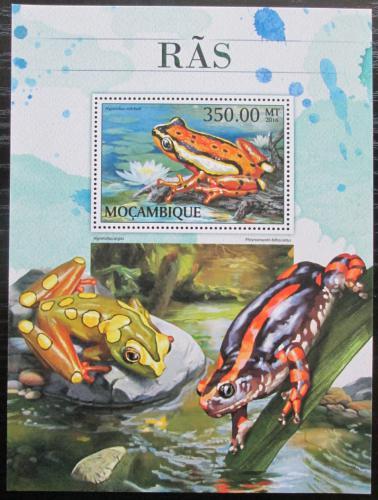 Poštovní známka Mosambik 2016 Žáby Mi# Block 1218 Kat 20€