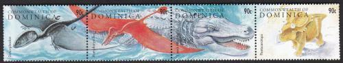 Poštovní známky Dominika 1995 Prehistorická fauna Mi# 2020-23