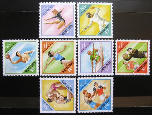 Poštovní známky Maïarsko 1972 LOH Mnichov Mi# 2773-80