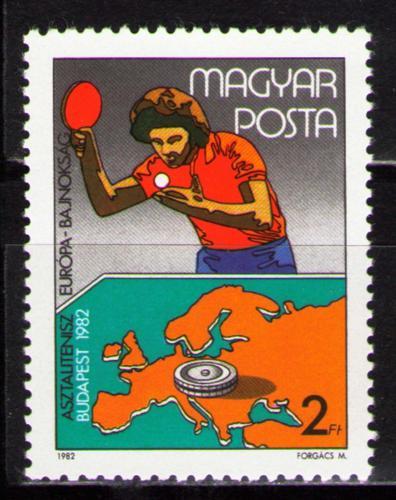 Poštovní známka Maïarsko 1982 Stolní tenis Mi# 3547