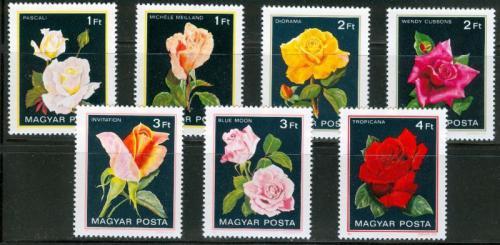 Poštovní známky Maïarsko 1982 Rùže Mi# 3548-54