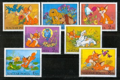 Poštovní známky Maïarsko 1982 Animovaný film Vuk Mi# 3580-86 Kat 7€
