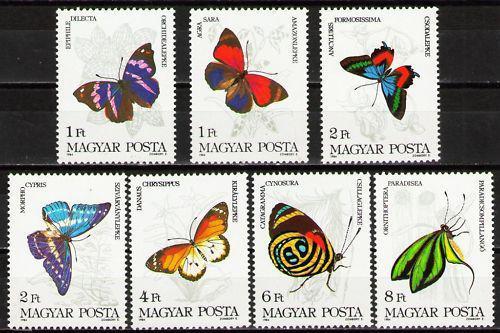 Poštovní známky Maïarsko 1984 Motýli Mi# 3681-87