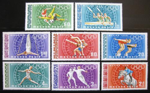 Poštovní známky Maïarsko 1968 LOH Mexiko Mi# 2434-41