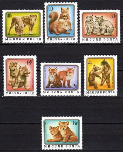 Poštovní známky Maïarsko 1976 Mláïata Mi# 3098-3104