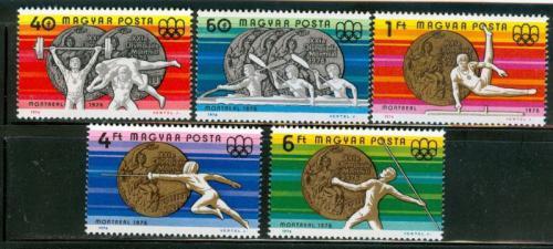 Poštovní známky Maïarsko 1976 LOH Montreal Mi# 3164-68