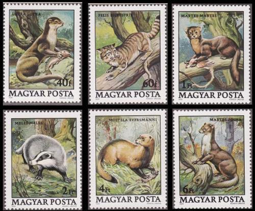 Poštovní známky Maïarsko 1979 Chránìná zvíøata Mi# 3384-89
