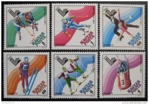 Poštovní známky Maïarsko 1979 ZOH Lake Placid Mi# 3390-95