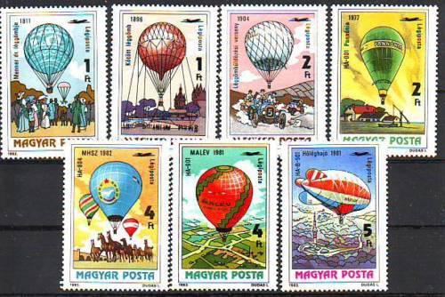 Poštovní známky Maïarsko 1983 Létající balóny Mi# 3600-06
