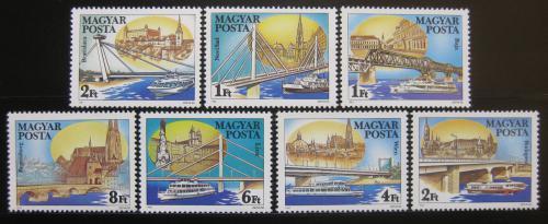 Poštovní známky Maïarsko 1985 Mosty na Dunaji Mi# 3733-39