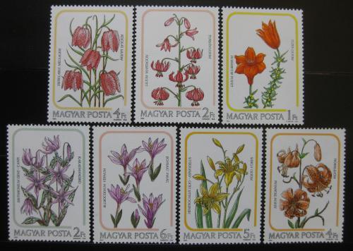 Poštovní známky Maïarsko 1985 Lilie Mi# 3788-94