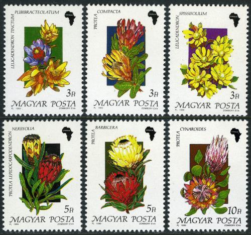 Poštovní známky Maïarsko 1990 Rostliny Mi# 4075-80 Kat 6€