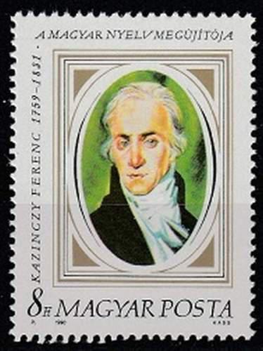 Poštovní známka Maïarsko 1990 Ferenc Kazinczy, spisovatel Mi# 4097