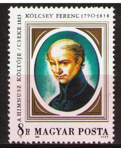 Poštovní známka Maïarsko 1990 Ferenc Kölcsey, spisovatel Mi# 4098