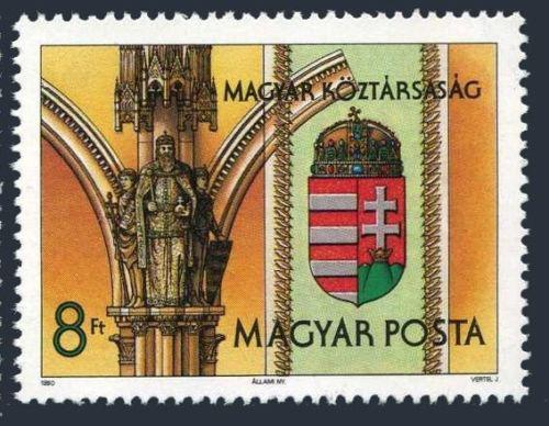 Poštovní známka Maïarsko 1990 Státní znak Mi# 4099