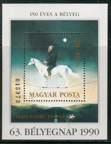 Poštovní známka Maïarsko 1990 Umìní, Endre Szász Mi# Block 212