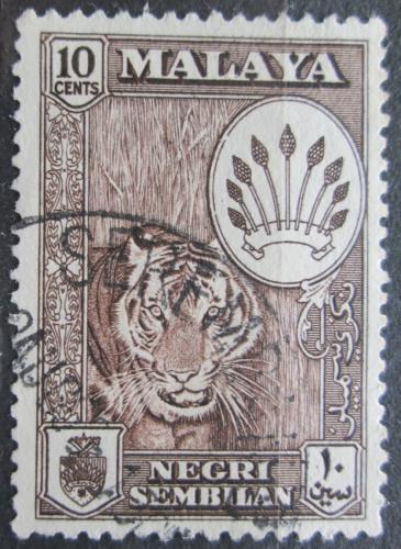 Poštovní známka Malajsie, Negri Sembilan 1957 Tygr Mi# 72 a