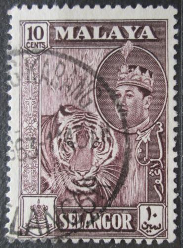 Poštovní známka Malajsie, Selangor 1961 Tygr Mi# 95
