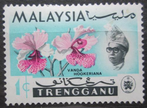 Poštovní známka Malajsie, Trengganu 1965 Orchideje Mi# 87