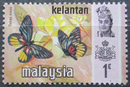 Poštovní známka Malajsie, Kelantan 1971 Motýli Mi# 97 I