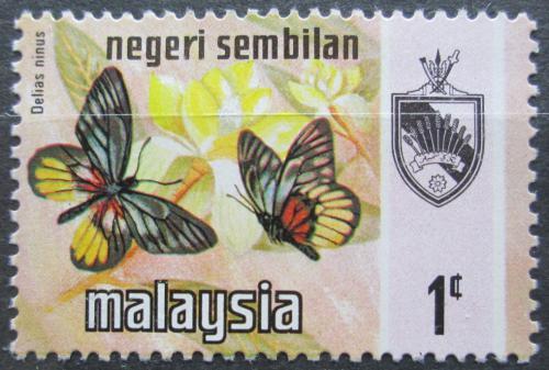 Poštovní známka Malajsie, Negri Sembilan 1971 Motýli Mi# 88 I