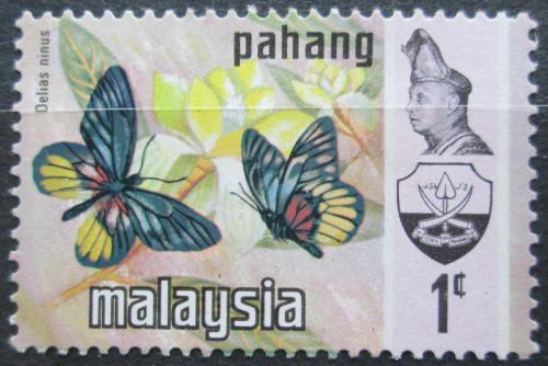Poštovní známka Malajsie, Pahang 1971 Motýli Mi# 83