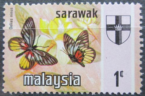 Poštovní známka Malajsie, Sarawak 1971 Motýli Mi# 219