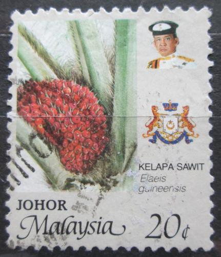 Poštovní známka Malajsie, Johor 1986 Palmový olej Mi# 187 A
