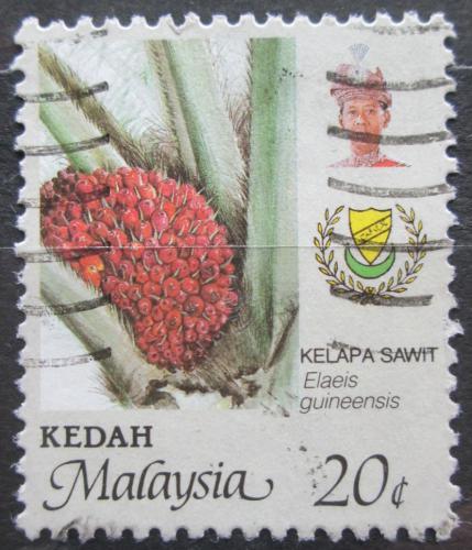 Poštovní známka Malajsie, Kedah 1986 Palmový olej Mi# 142 A