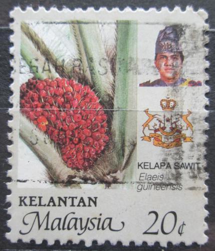Poštovní známka Malajsie, Kelantan 1986 Palmový olej Mi# 126 A
