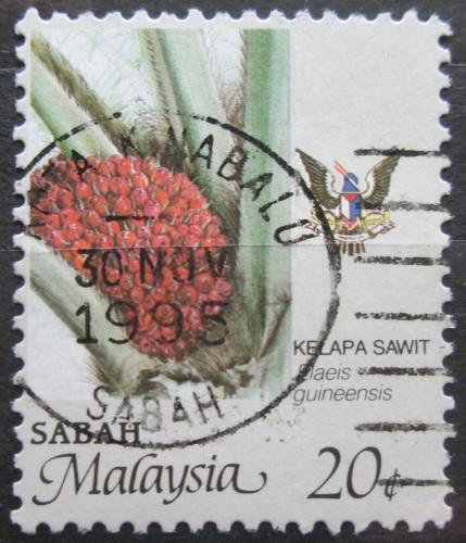 Poštovní známka Malajsie, Sabah 1986 Palmový olej Mi# 50 A