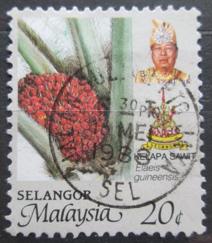 Poštovní známka Malajsie, Selangor 1986 Palmový olej Mi# 134 A