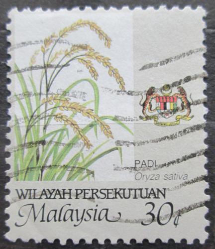 Poštovní známka Malajsie 1986 Rýže Mi# 21 A