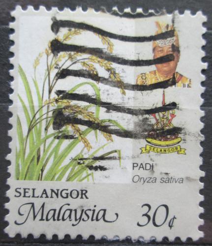 Poštovní známka Malajsie, Selangor 1986 Rýže Mi# 135 A