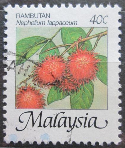 Poštovní známka Malajsie 1986 Rambutan Mi# 330 I XA