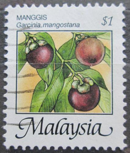 Poštovní známka Malajsie 1986 Mangostana lahodná Mi# 333 I XA
