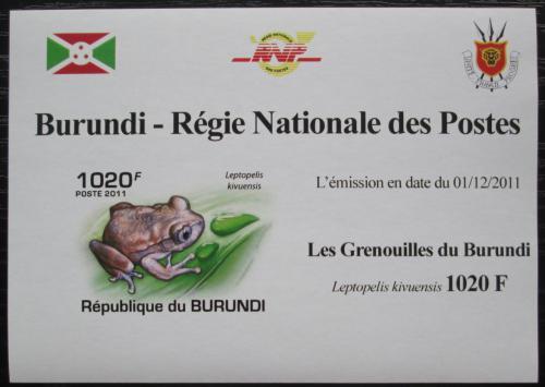 Poštovní známka Burundi 2011 Žába neperf. DELUXE Mi# 2062 B Block