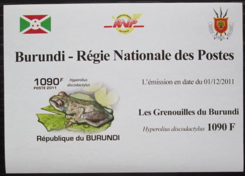 Poštovní známka Burundi 2011 Žába neperf. DELUXE Mi# 2063 B Block