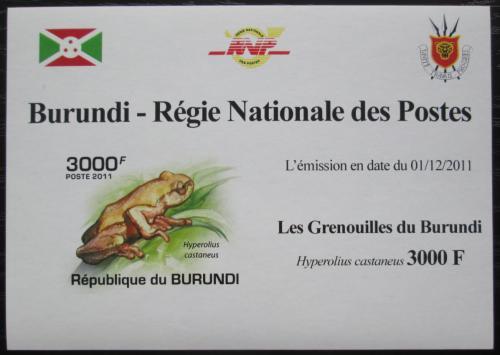 Poštovní známka Burundi 2011 Žába neperf. DELUXE Mi# 2064 B Block