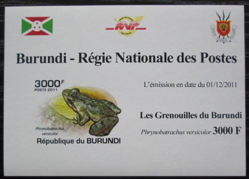 Poštovní známka Burundi 2011 Žába neperf. DELUXE Mi# 2065 B Block