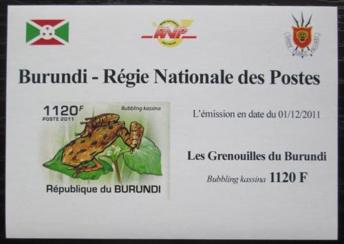 Poštovní známka Burundi 2011 Žába neperf. DELUXE Mi# 2067 B Block