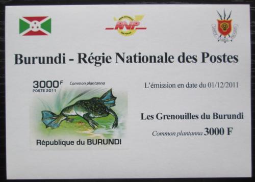 Poštovní známka Burundi 2011 Žába neperf. DELUXE Mi# 2068 B Block