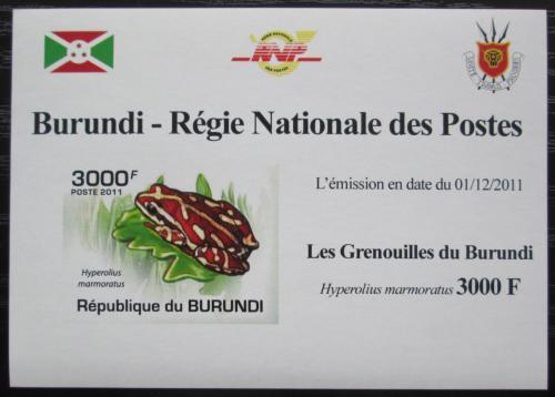 Poštovní známka Burundi 2011 Žába neperf. DELUXE Mi# 2069 B Block