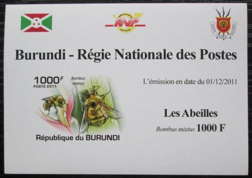 Poštovní známka Burundi 2011 Vèely neperf. DELUXE Mi# 1998 B Block