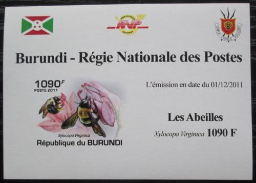 Poštovní známka Burundi 2011 Vèely neperf. DELUXE Mi# 1999 B Block