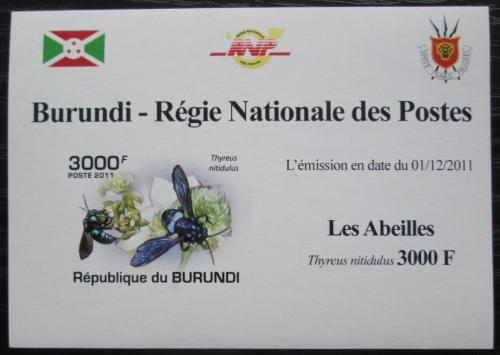 Poštovní známka Burundi 2011 Vèely neperf. DELUXE Mi# 2000 B Block