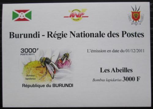 Poštovní známka Burundi 2011 Vèely neperf. DELUXE Mi# 2001 B Block