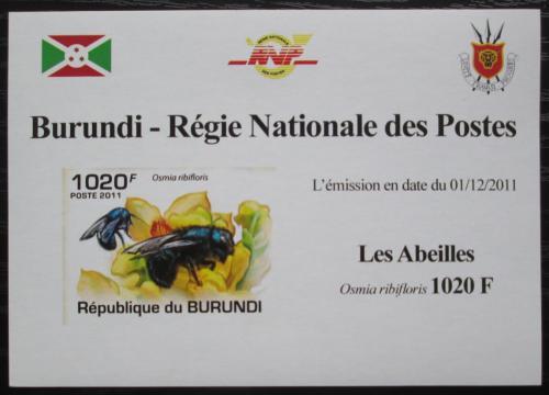 Poštovní známka Burundi 2011 Vèely neperf. DELUXE Mi# 2002 B Block